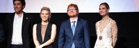 "Die ""Fab-Four"" in YESTERDAY: Lily James, Kate McKinnon, Ed Sheeran und Himesh Patel"